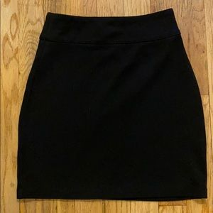 Urban outfitters black ponte knit miniskirt